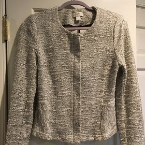 Loft tweed look knit jacket.